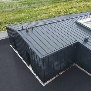 couverture de toit en tôle d'acier / en acier / à joint debout / colorée