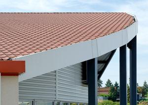 couverture de toit en acier / prélaquée / colorée