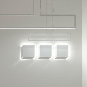 applique murale contemporaine / en métal / à LED / carrée