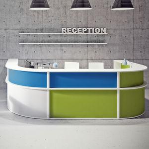banque d'accueil modulable / en arc de cercle / en tissu