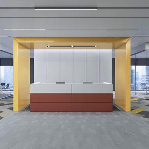 banque d'accueil modulable / en tissu