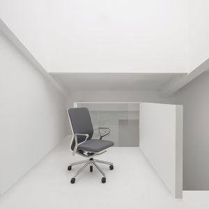 chaise de bureau contemporaine / à roulettes / pivotante / avec accoudoirs