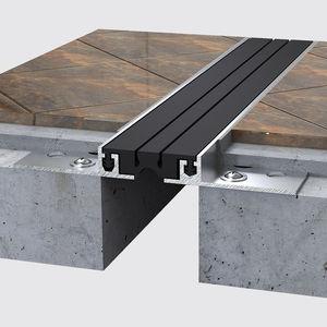 joint de dilatation en aluminium / pour plancher / pour carrelage / piétonnièr