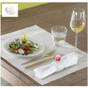 porte-serviette de table en porcelaine