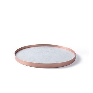plateau de service en cuivre / en marbre / à usage domestique