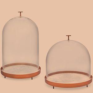 plateau de service en verre / en cuivre / en marbre / à usage domestique