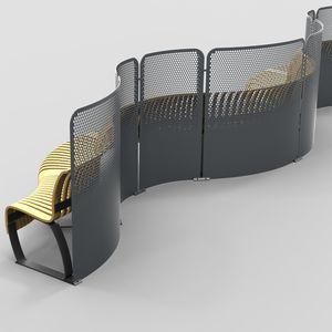 séparateur d'espace en acier à revêtement par poudre