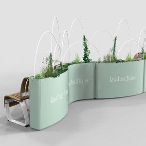 jardinière en acier / en acier à revêtement par poudre / rectangulaire / ronde