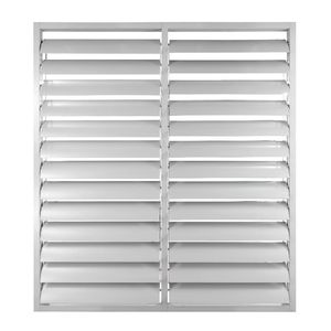 fenêtre à lames / en aluminium