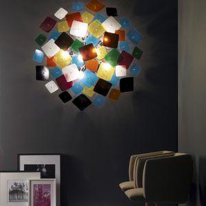 applique murale design original / en verre / en métal / à LED
