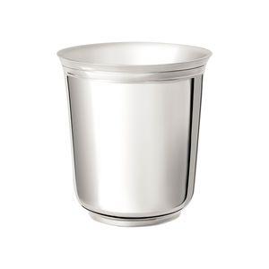 tasse en métal argenté