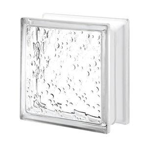 brique de verre carrée / texturée / pour façade / pour mur intérieur