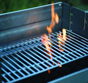 barbecue à charbon / électrique / sur pied / en métal