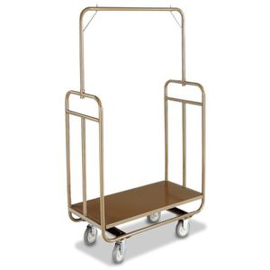 chariot à bagages / professionnel / pour hôtel / en inox brossé