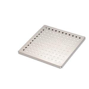 couvercle de regard en acier inoxydable / carré / préfabriqué / sur mesure