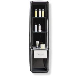 présentoir pour produits de beauté / en verre / pour salon de coiffure