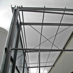 structure métallique pour constructions industrielles