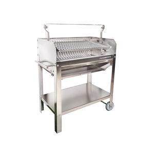 barbecue à charbon / à bois / sur roulettes / en acier