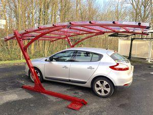 abri de voiture en acier / en aluminium / en polycarbonate / professionnel