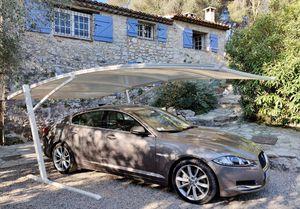 abri de voiture en acier / en aluminium / en polyester renforcé de fibres de verre / enduit PVC