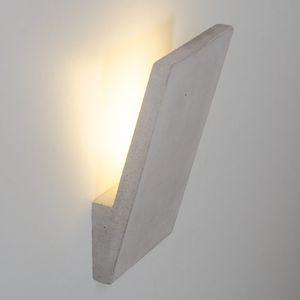 applique murale contemporaine / en béton / à LED / rectangulaire