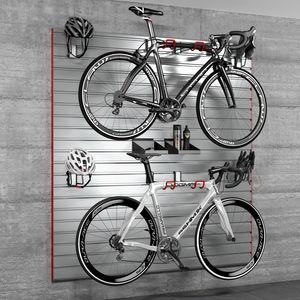 range-vélo mural / en acier / en aluminium / en plastique
