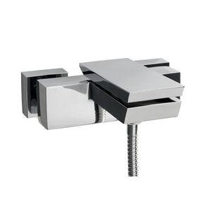 mitigeur de baignoire / mural / en métal / 1 trou