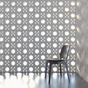 bloc de béton creux / décoratif / pour cloison / pour façade