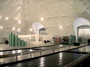 structure gonflable pour espace public
