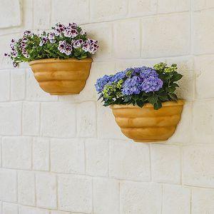 pot de jardin en polyéthylène / mural / demi-rond