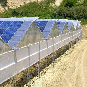 panneau photovoltaïque polycristallin / intégré au bâtiment / pour serre