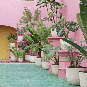 pot de jardin en polypropylène / rond / résidentiel