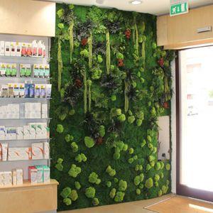 mur végétal stabilisé / naturel / en mousse boule / d'intérieur