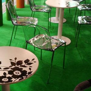 table bistrot contemporaine / en céramique / ronde / pour restaurant
