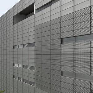 bardage en panneaux / en acier galvanisé / perforé / pour façade ventilée