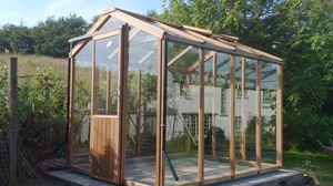 serre de jardinage / monochapelle / structure en aluminium / structure en bois