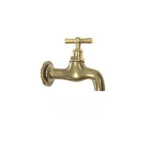 robinet pour fontaine / mural / en laiton / standard