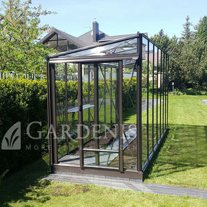 serre de jardinage / tunnel unique / structure en aluminium / en verre