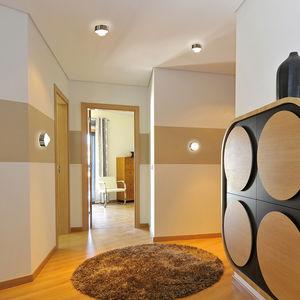 plafonnier contemporain / rond / en verre borosilicaté / en métal