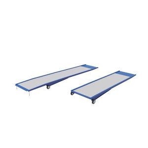 rampe d'accès en métal / pour passage de seuil / portable