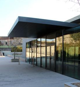 auvent pour bâtiment tertiaire / aluminium / en acier / bois