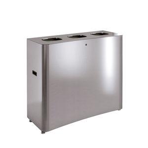 poubelle en tôle d'acier / en acier inoxydable / en inox brossé / pour école
