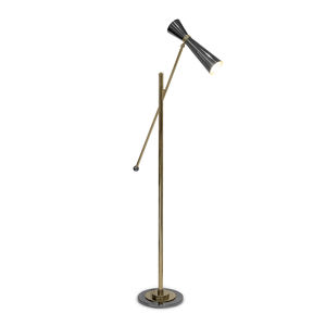 lampe sur pied / contemporaine / en or / dorée