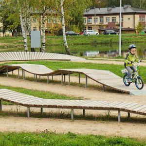 pumptrack pour skatepark / pour bikeparks / modulable / linéaire