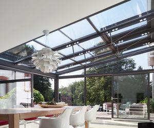 auvent pour terrasse / en verre