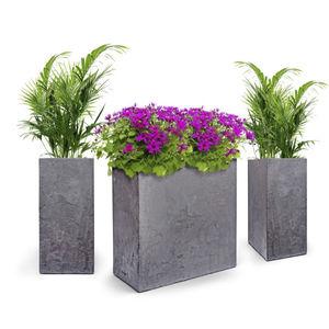 pot de fleur en composite / sur pied / carré / rectangulaire