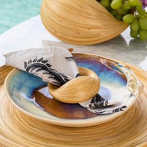 porte-serviette de table en bambou