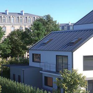 couverture de toit en acier