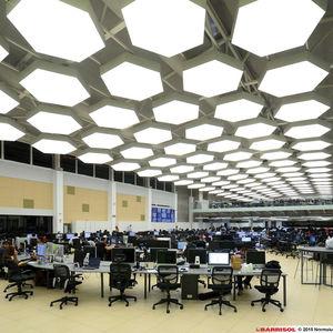 plafond tendu acoustique / lumineux