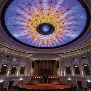 plafond tendu lumineux / couleur